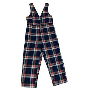 Urban Outfitters Plaid Crop Overalls Size Small